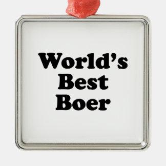 Le meilleur Boer du monde Ornement Carré Argenté