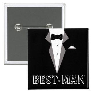 Le meilleur bouton d'art de smoking d'homme badges