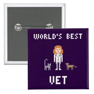 Le meilleur bouton femelle de vétérinaire de pixel pin's