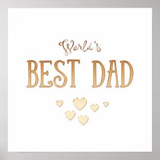 Le meilleur cadeau adorable du papa | du monde poster