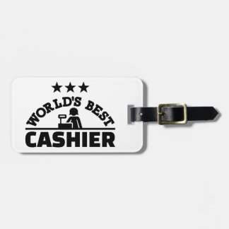 Le meilleur caissier du monde étiquettes bagages