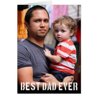Le meilleur carte photo de fête des pères de papa