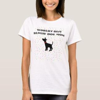 Le meilleur chien d'abri de T-shirt de maman de