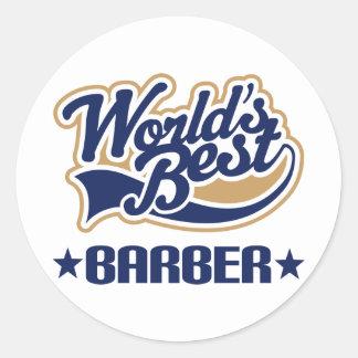 Le meilleur coiffeur des mondes sticker rond