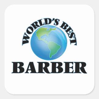 Le meilleur coiffeur du monde sticker carré