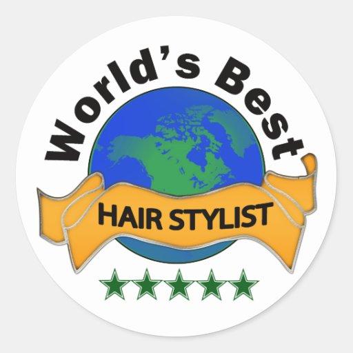 Le meilleur coiffeur du monde autocollants ronds