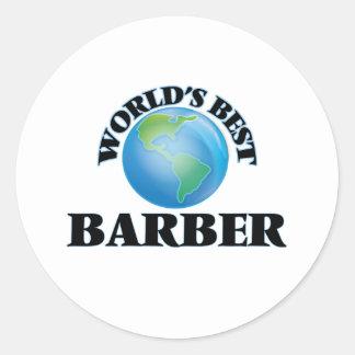 Le meilleur coiffeur du monde adhésifs ronds