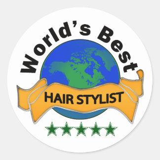 Le meilleur coiffeur du monde sticker rond