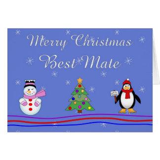 Le meilleur compagnon de Noël Carte De Vœux