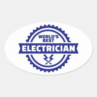 Le meilleur électricien du monde sticker ovale