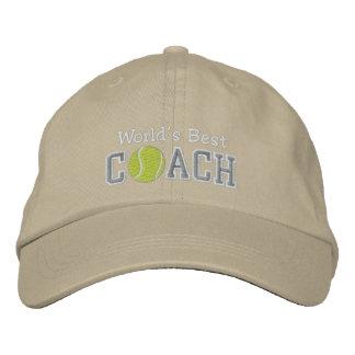 Le meilleur entraîneur de tennis du monde casquette brodée