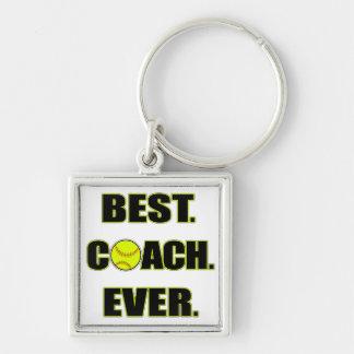 Le meilleur entraîneur du base-ball jamais porte-clé carré argenté