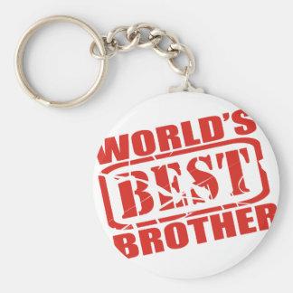 Le meilleur frère du monde porte-clé rond