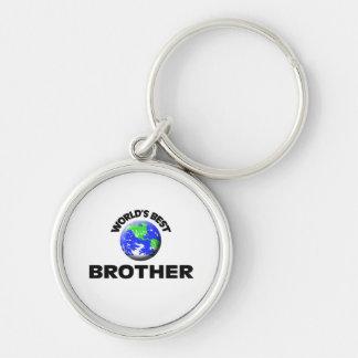 Le meilleur frère du monde porte-clé rond argenté