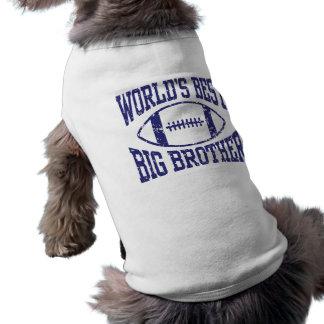 Le meilleur frère du monde t-shirt pour chien
