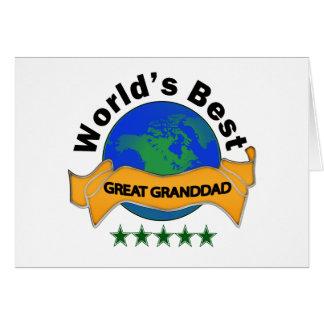 Le meilleur grand grand-papa du monde carte de vœux