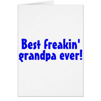Le meilleur grand-papa de Freakin toujours bleu Cartes