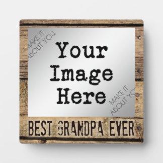 Le meilleur grand-papa jamais en photo impressions sur plaque
