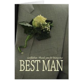 Le meilleur homme de parrain vous remercient carte de correspondance