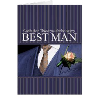 Le meilleur homme de parrain vous remercient cartes de vœux