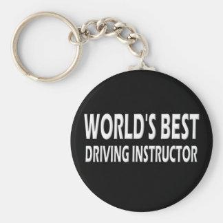 Le meilleur instructeur d'entraînement du monde porte-clé rond