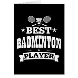 Le meilleur joueur de badminton carte de vœux