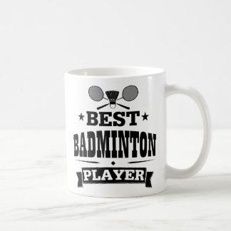 Le meilleur joueur de badminton mug blanc