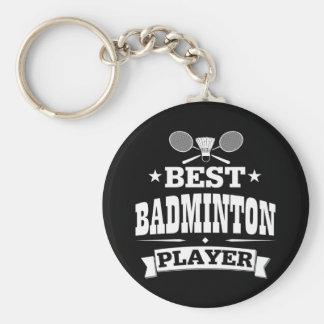 Le meilleur joueur de badminton porte-clé rond
