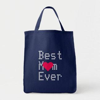 Le meilleur jour de mères de Valentines Sac En Toile Épicerie