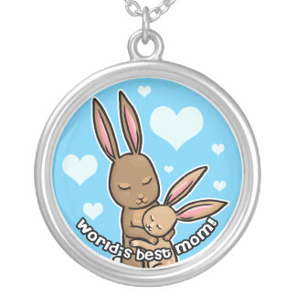 Le meilleur lapin de maman des mondes pendentif rond
