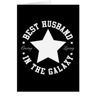 Le meilleur mari dans la galaxie carte de vœux