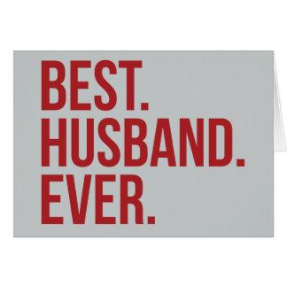 Le meilleur mari jamais carte de vœux