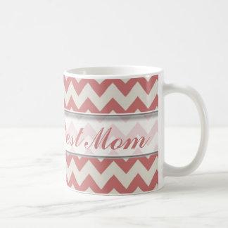 Le meilleur motif de la maman Mug|Brown Chevron du