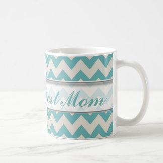 Le meilleur motif de la maman Mug|Jade Chevron du Mug Blanc