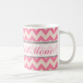 Le meilleur motif de la maman Mug|Pink Chevron du Mug Blanc