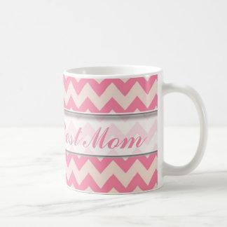 Le meilleur motif de la maman Mug|Pink Chevron du