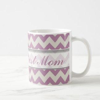 Le meilleur motif de la maman Mug|Purple Chevron Mug Blanc