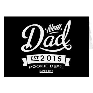 Le meilleur nouveau papa foncé 2015 cartes