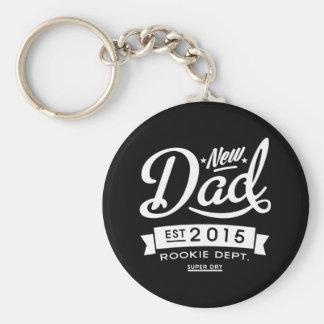 Le meilleur nouveau papa foncé 2015 porte-clé rond
