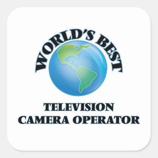 Le meilleur opérateur de caméra de télévision du sticker carré