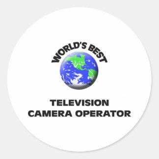 Le meilleur opérateur de caméra de télévision du autocollants ronds