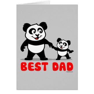Le meilleur panda de papa cartes