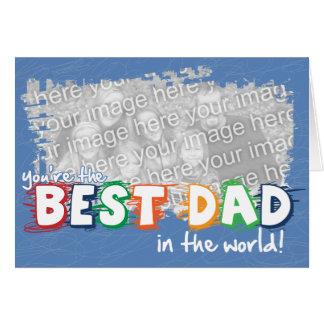 Le meilleur papa dans la carte de Customizeable du