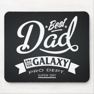 Le meilleur papa dans l'obscurité de galaxie tapis de souris