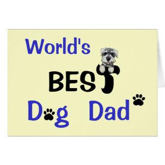 Le meilleur papa de chien carte de vœux