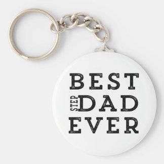 Le meilleur papa d'étape jamais porte-clé rond