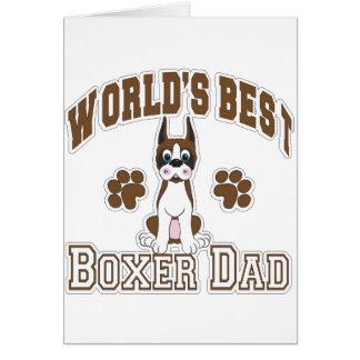 Le meilleur papa du boxeur du monde carte de vœux