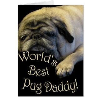 Le meilleur papa du carlin du monde carte de vœux