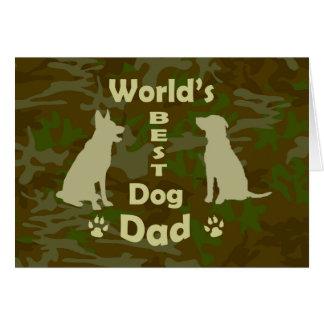 Le meilleur papa du chien du monde cartes
