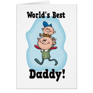 Le meilleur papa du monde carte de vœux